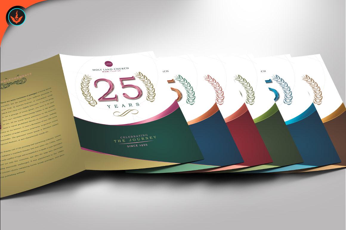 Regal Church Anniversary Program Photoshop Template