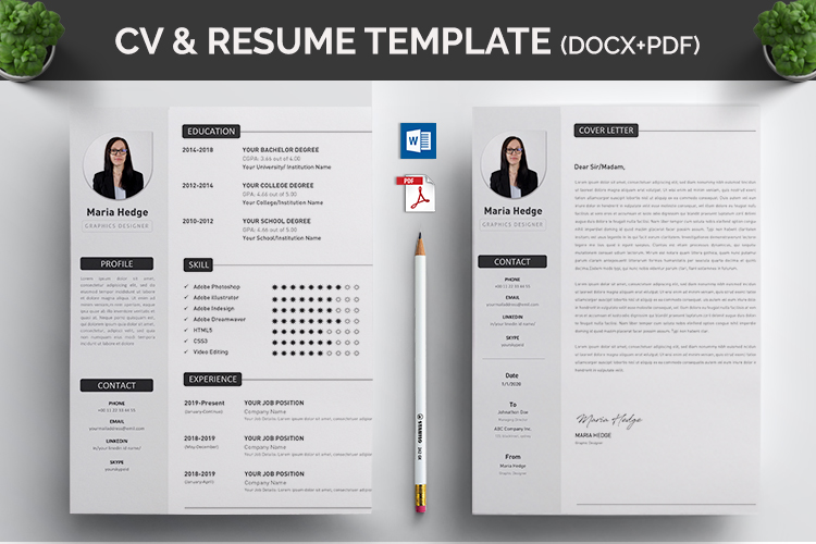 CV Resume MS Word Template example image 2