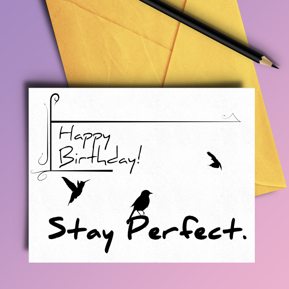 Stay Perfect Birthday Card - 4 variations example image 3