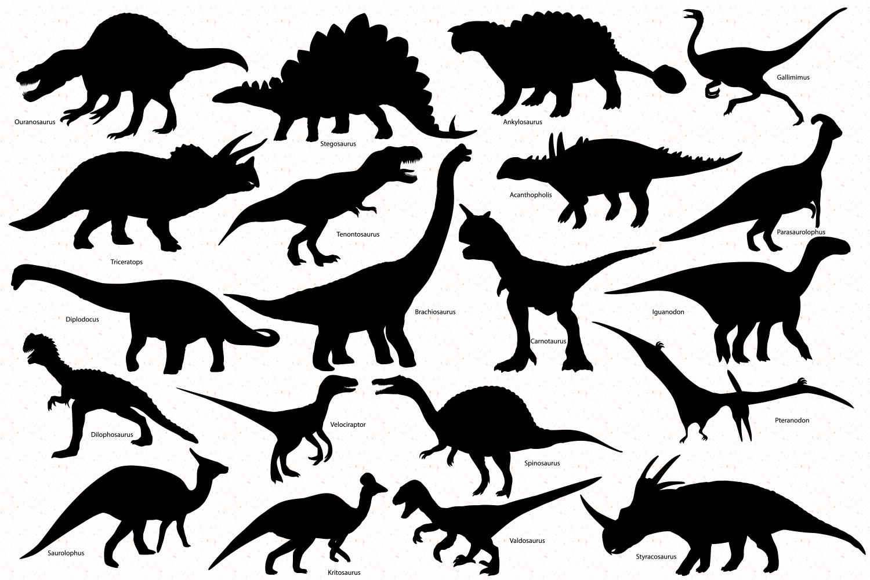 Dinosaur Silhouette set example image 2