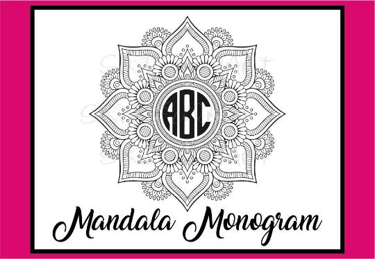 monogram mandala, monogram, monogram svg, mandala svg example image 2