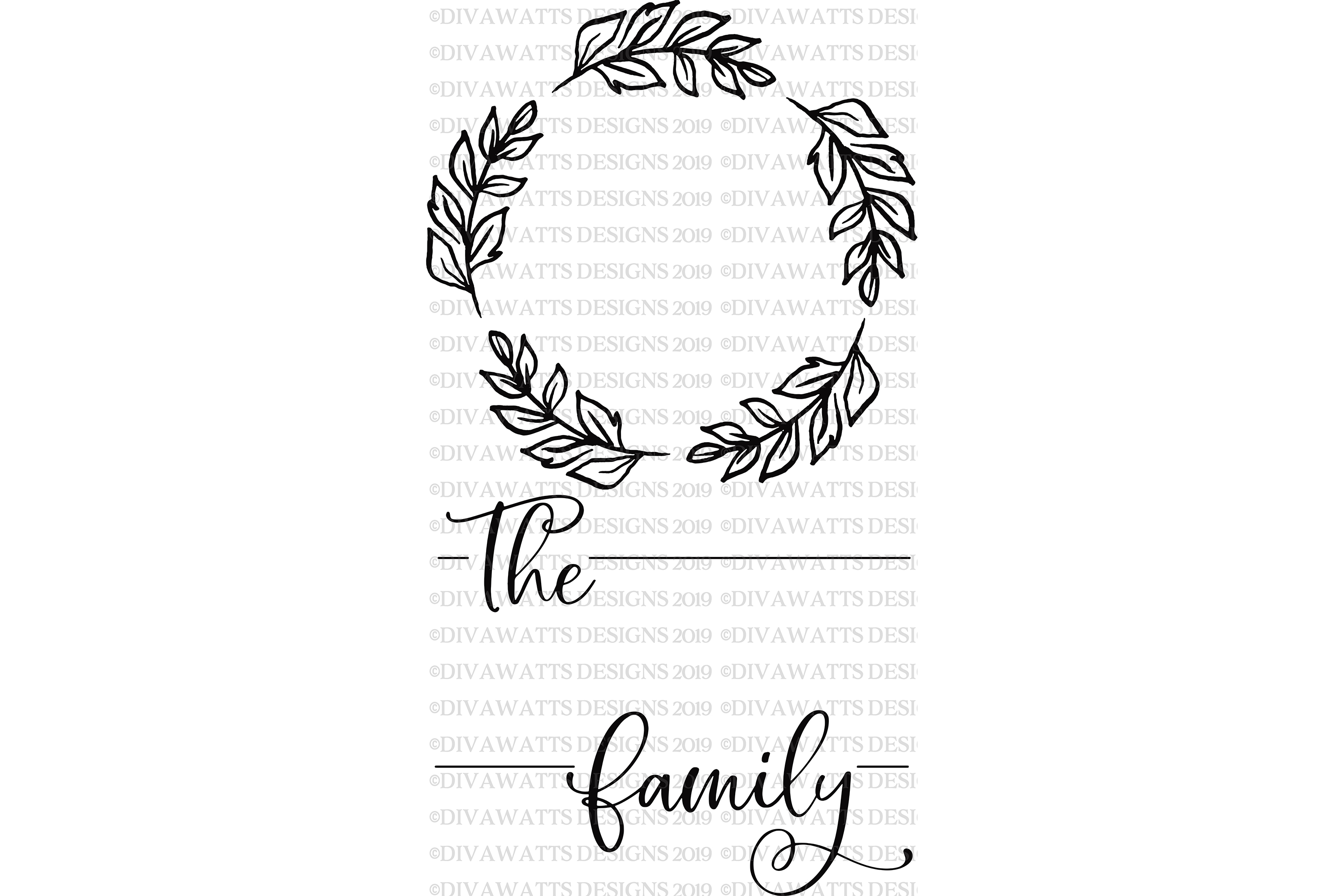 Farmhouse Monogram Last Name Cutting File SVG Sign example image 3