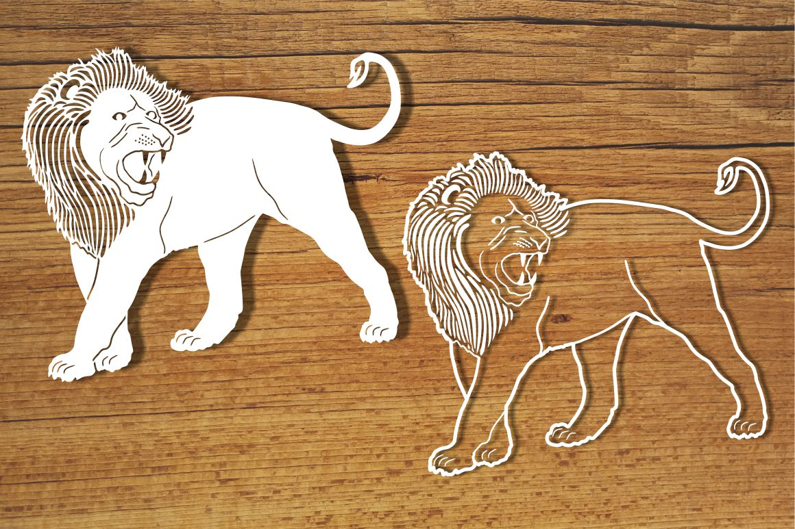Lions SVG files for Silhouette and Cricut. example image 1