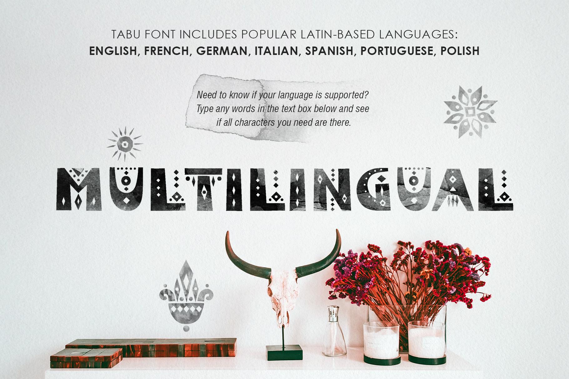 Tabu - Tribal Font Family example image 5