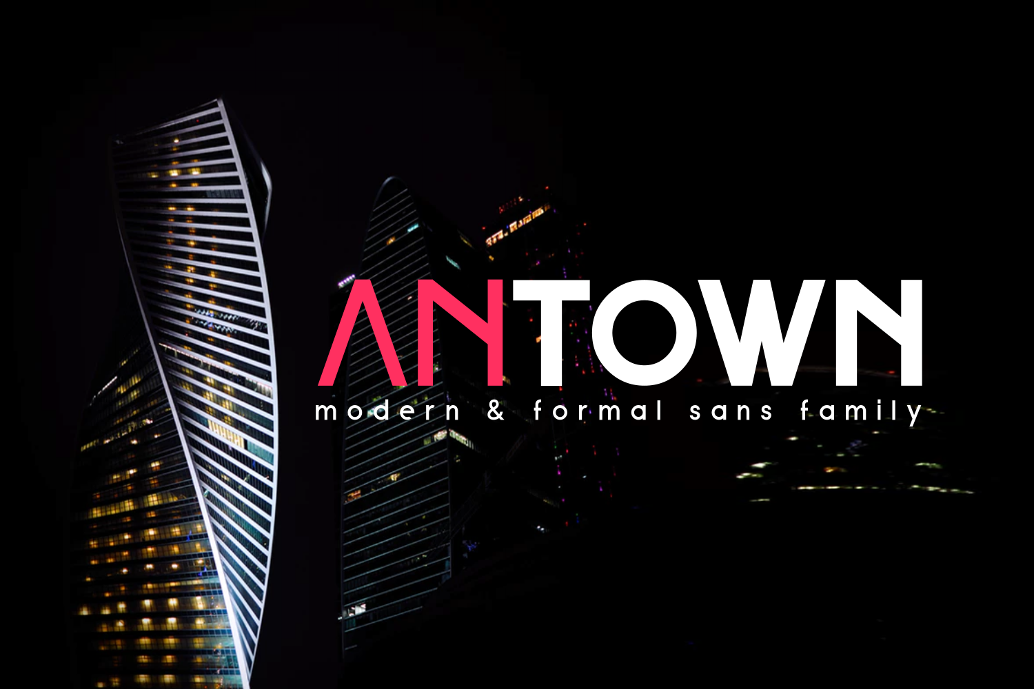 ANTOWN | modern & formal sans family example image 1