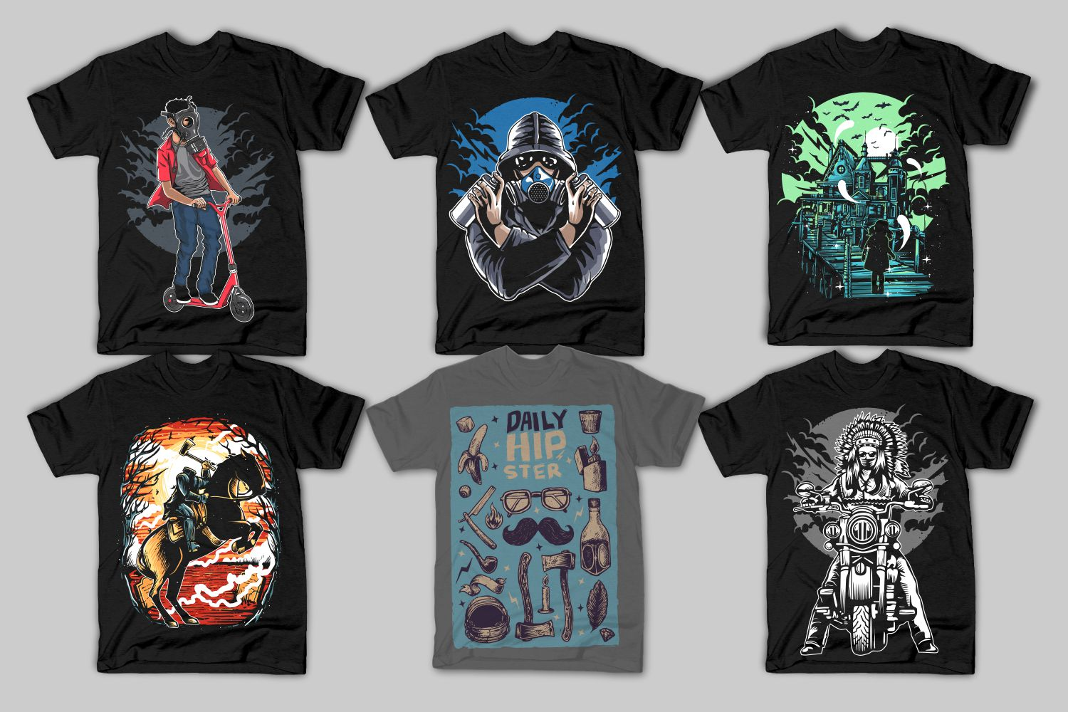 82 Tshirt Designs Bundle example image 5