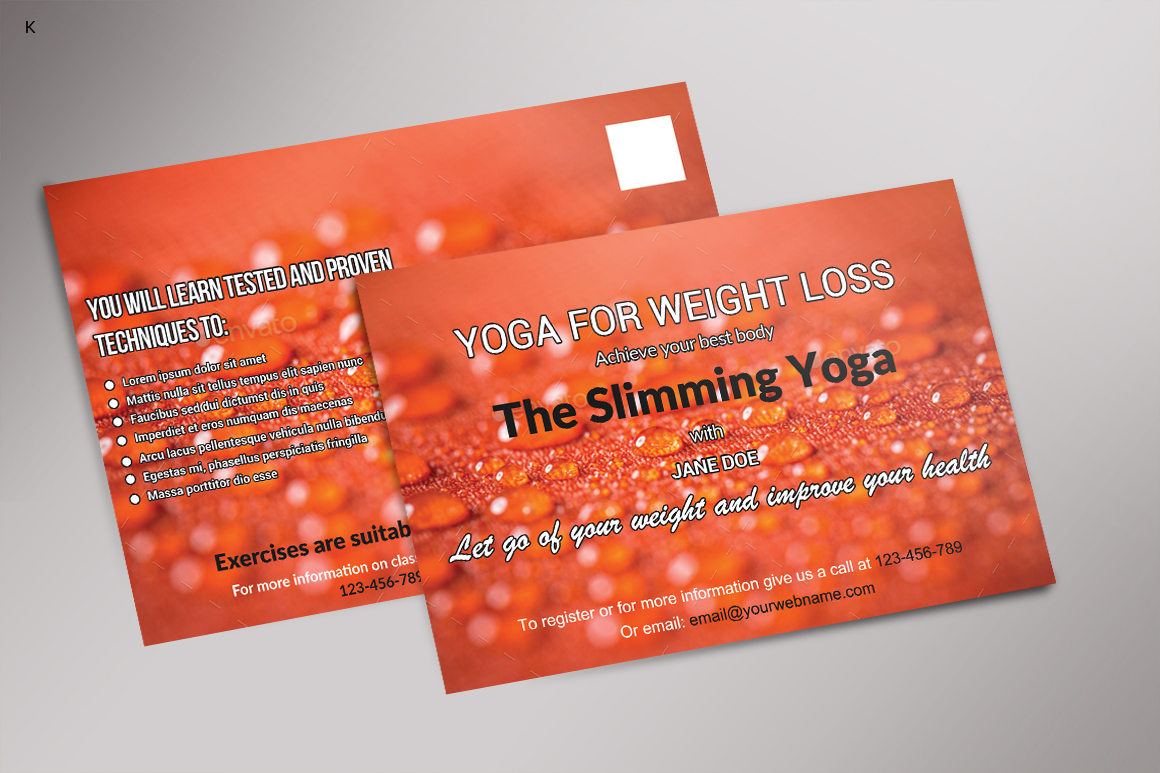 Fitness Post Card example image 4