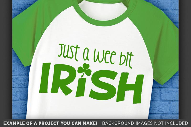 Just A Wee Bit Irish SVG - St. Patricks Shirt - 1079 example image 2