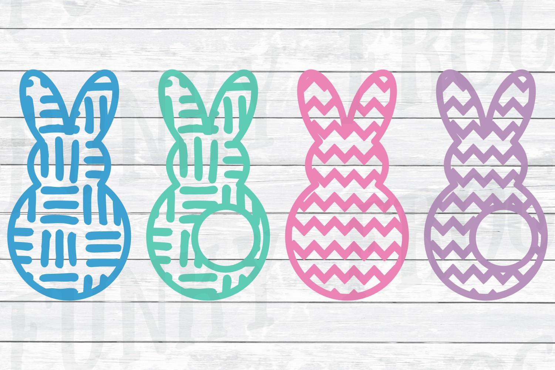 Easter Monogram Frame Bundle - Egg and Bunny SVG Cut Files example image 3