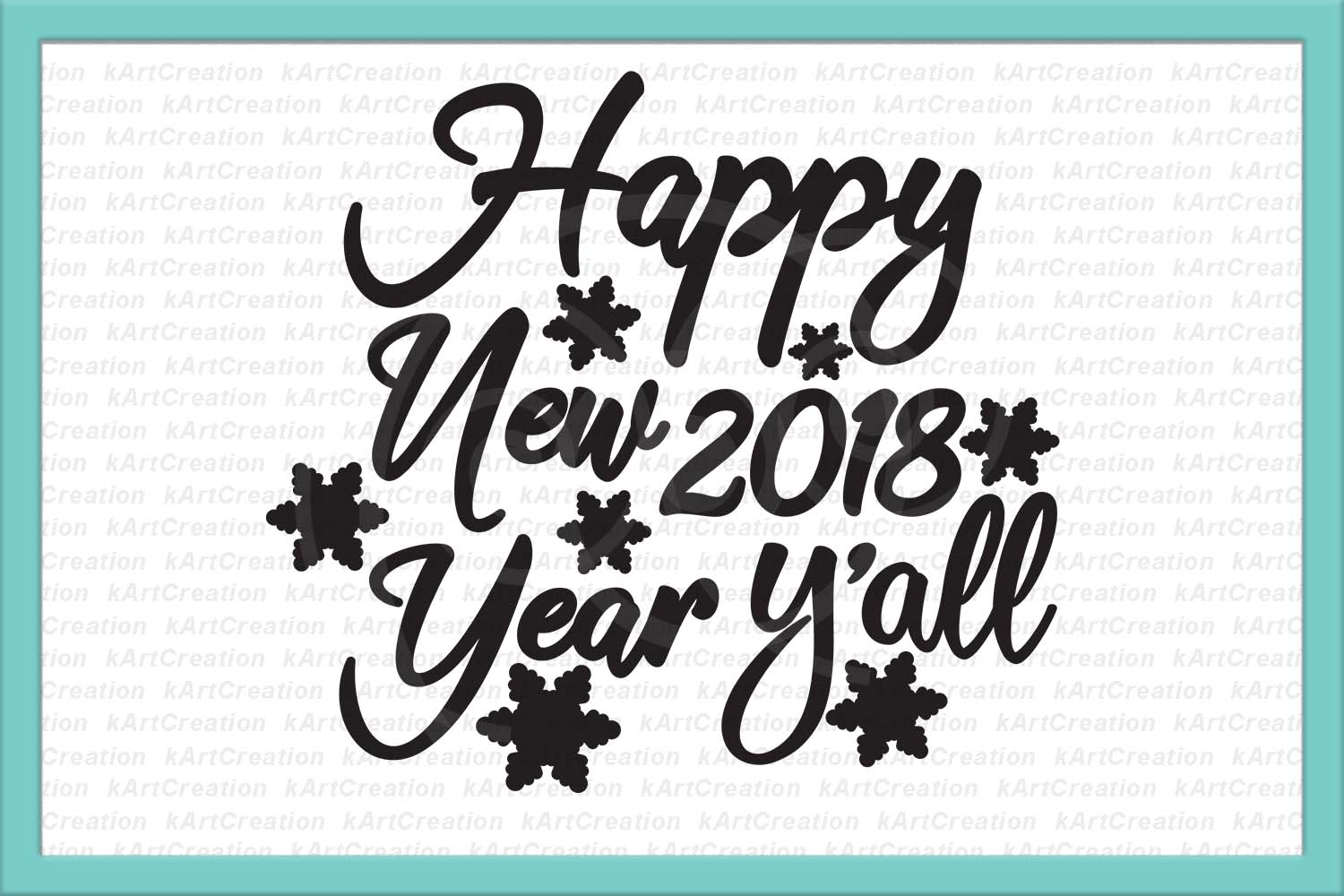 Happy New Year svg, Happy new year y'all svg file for cut example image 1