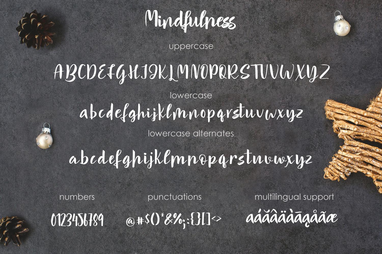 Mindfulness - handwritten font example image 2