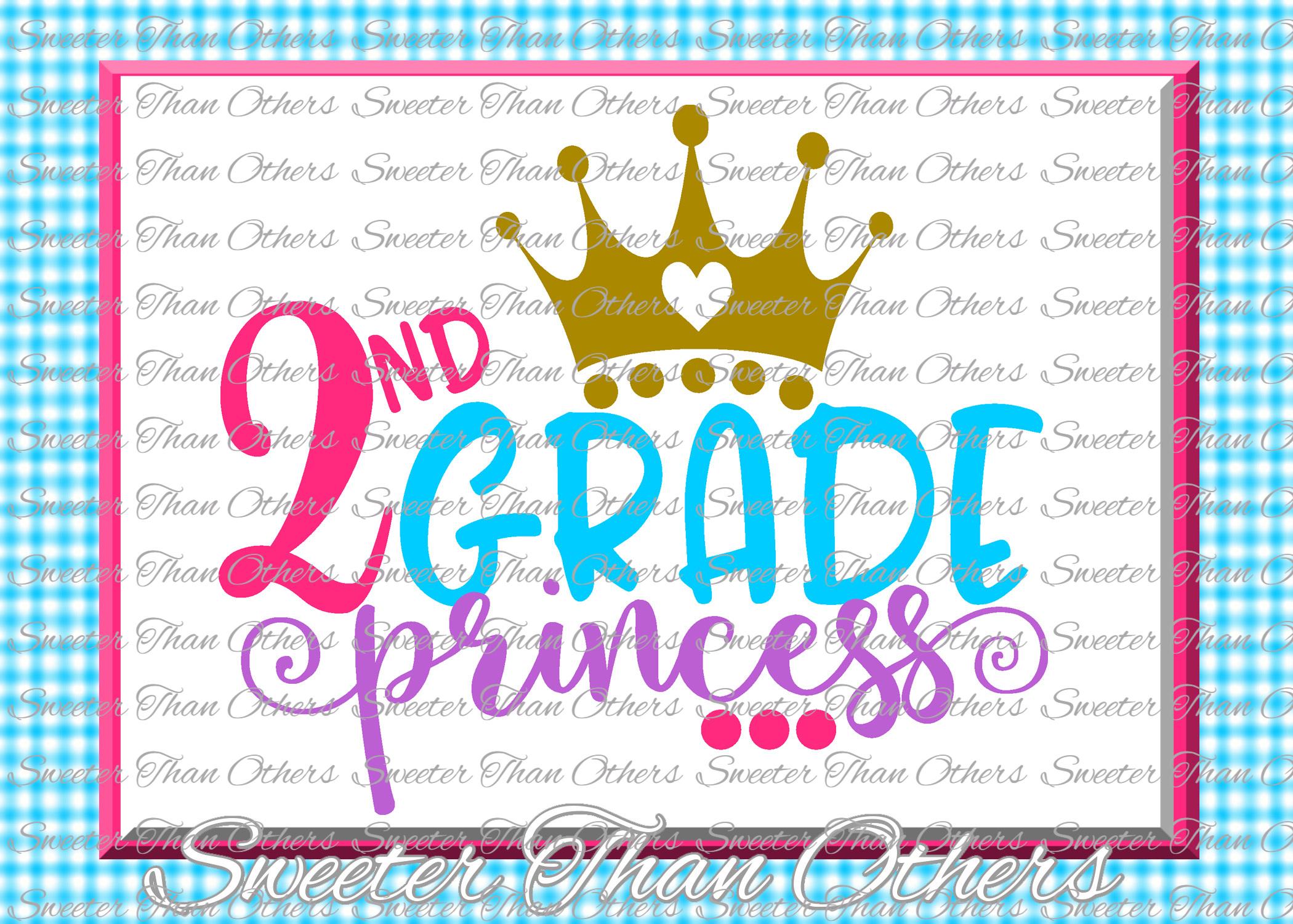 School Princess SVG Bundle Kindergarten First Day of School example image 3