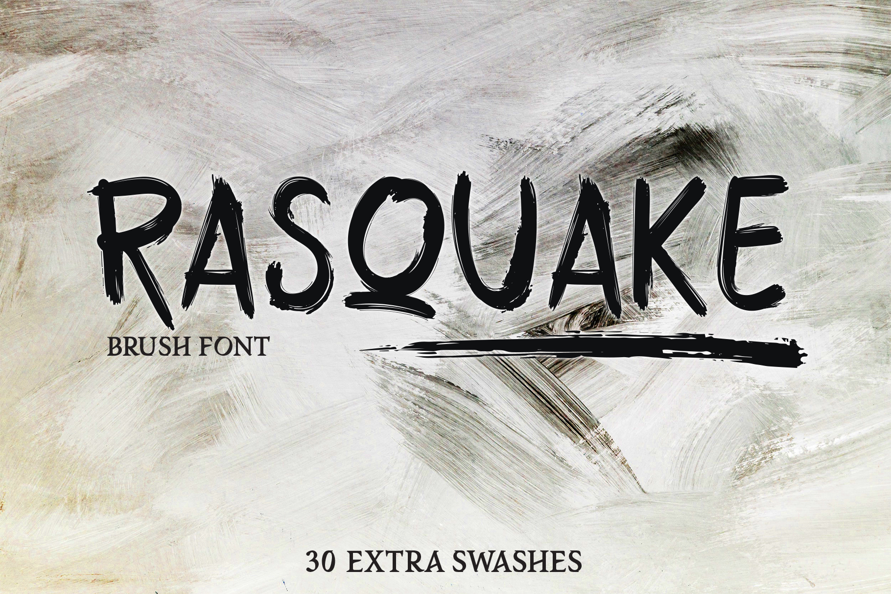 RASQUAKE brush font EXTRA swashes example image 1