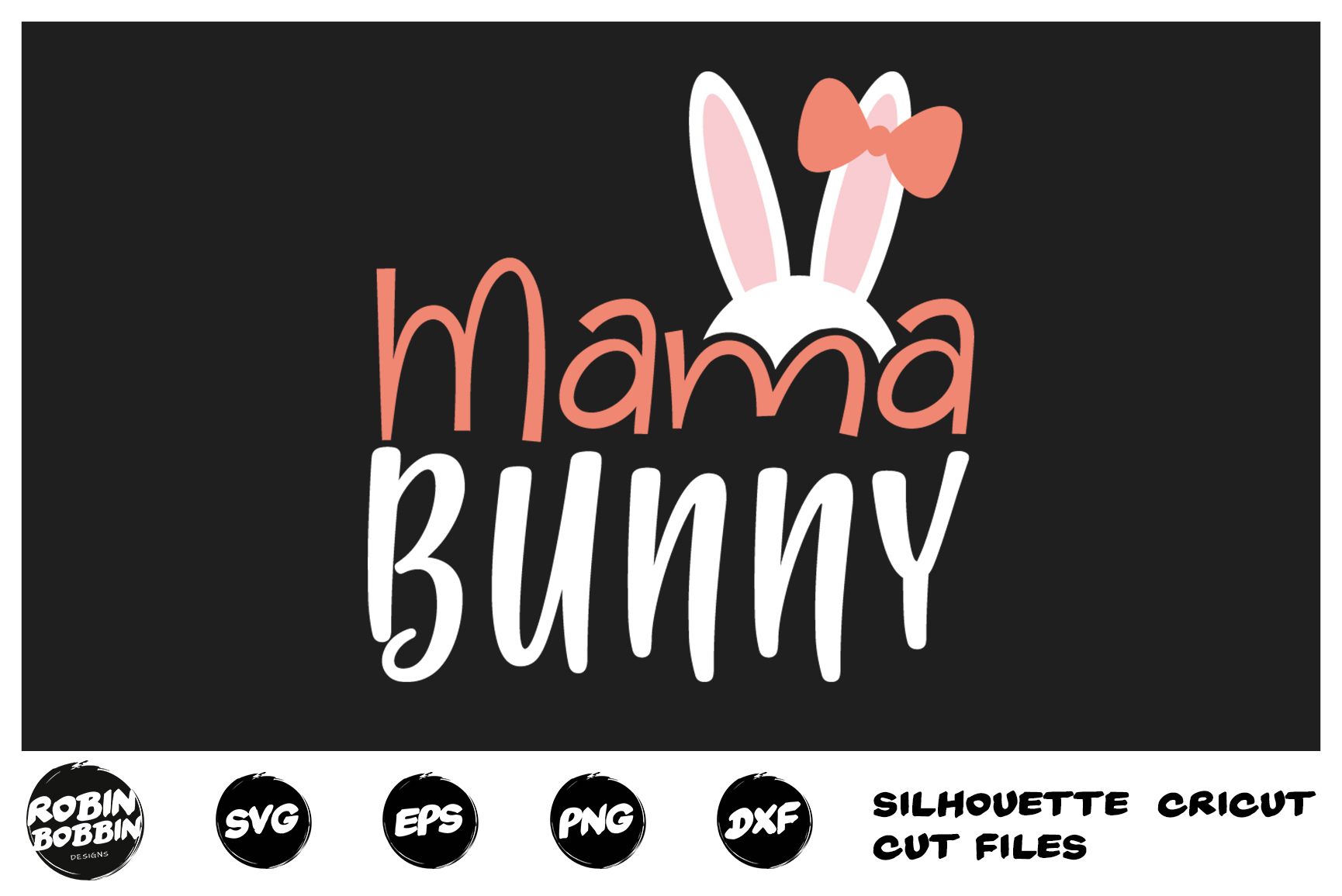 Easter svg, Mama Bunny svg, Mama Easter svg, Mother Easter example image 1