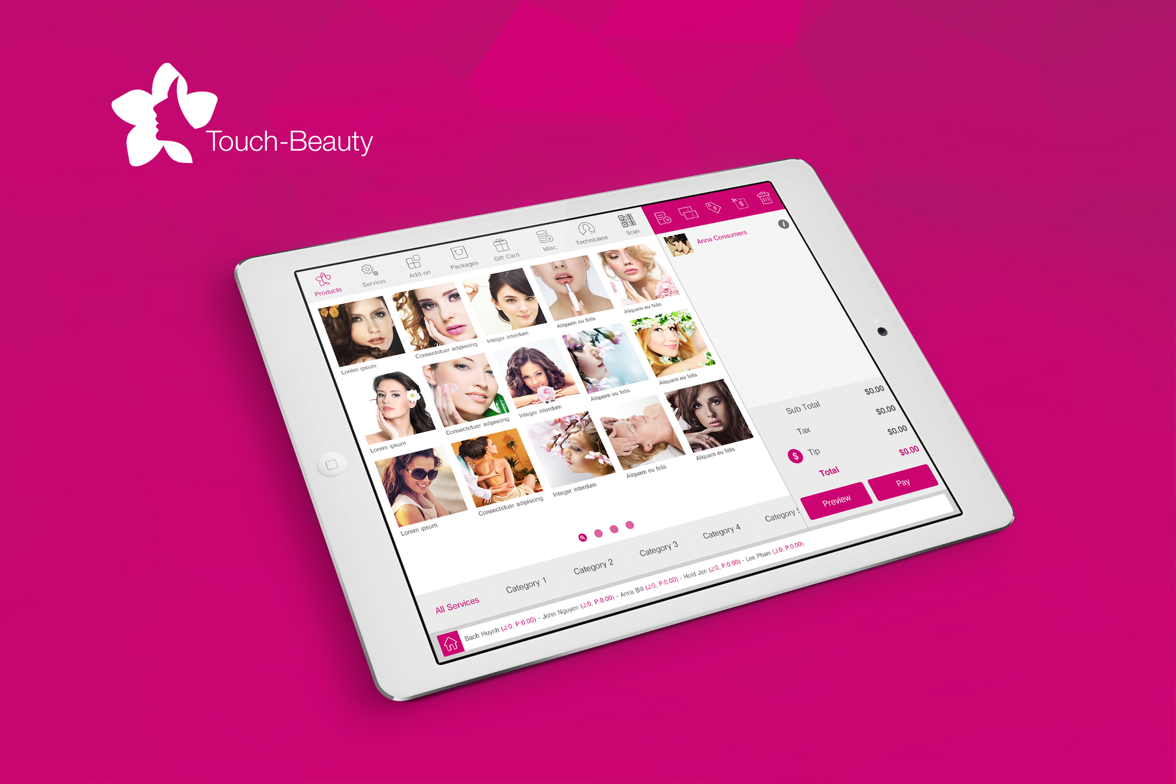 Touch Beauty UI kit example image 1