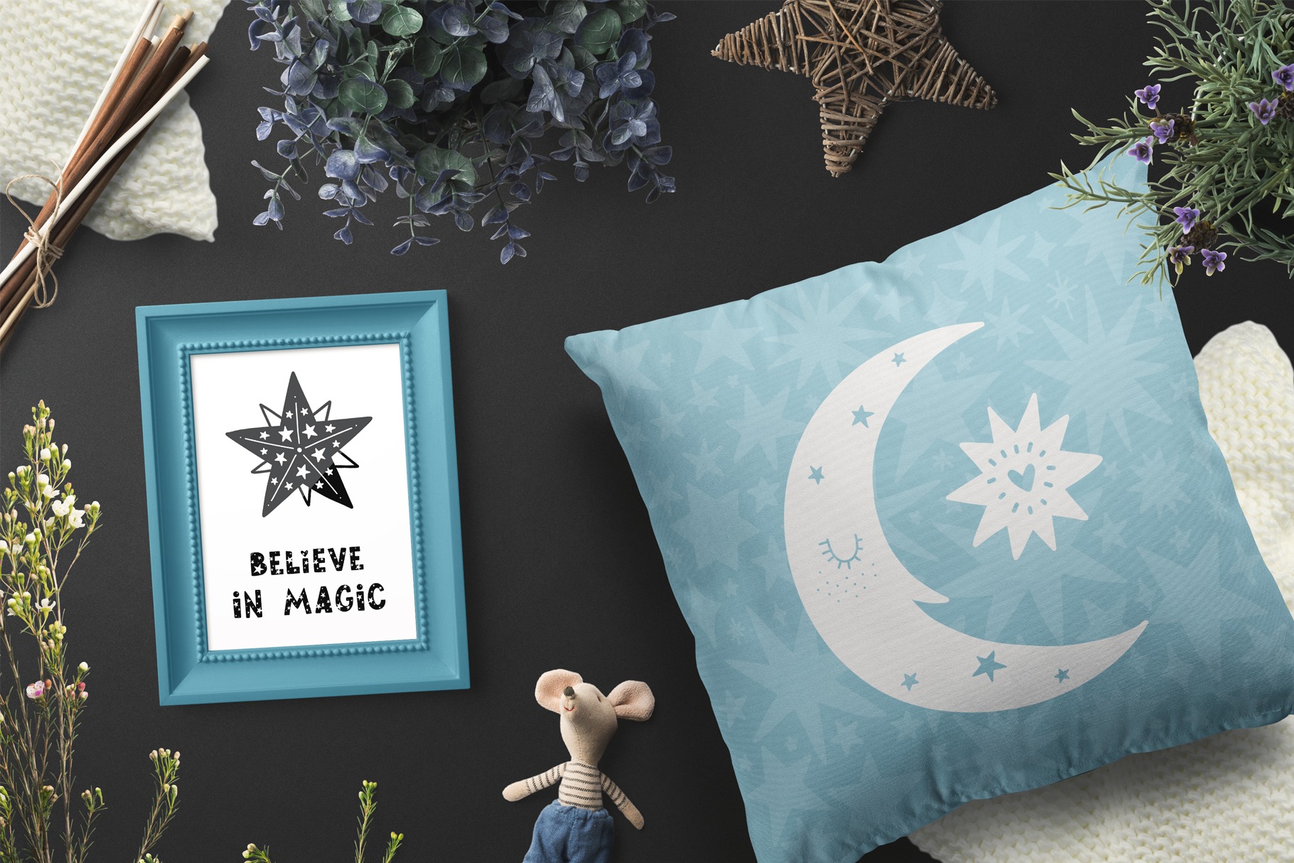 Starry Typeface - Font with Clipart example image 4