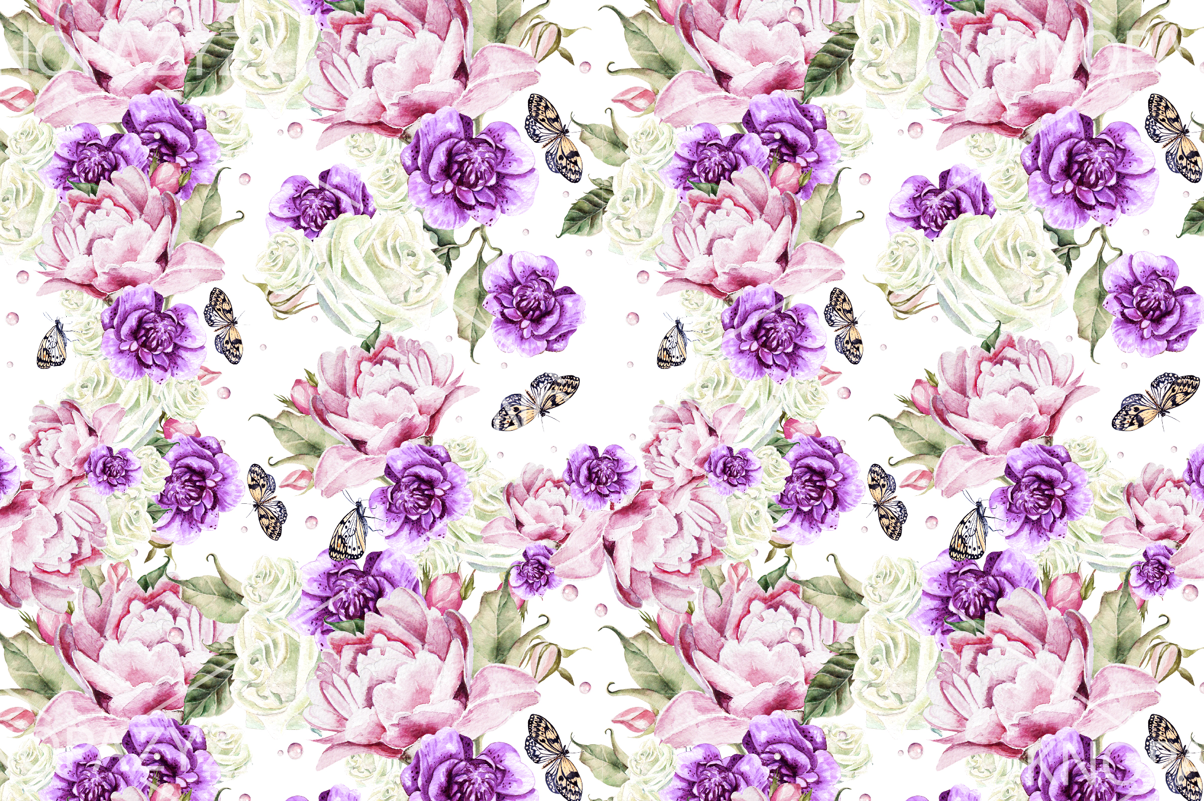 10 Hand Drawn Watercolor Pattern example image 6