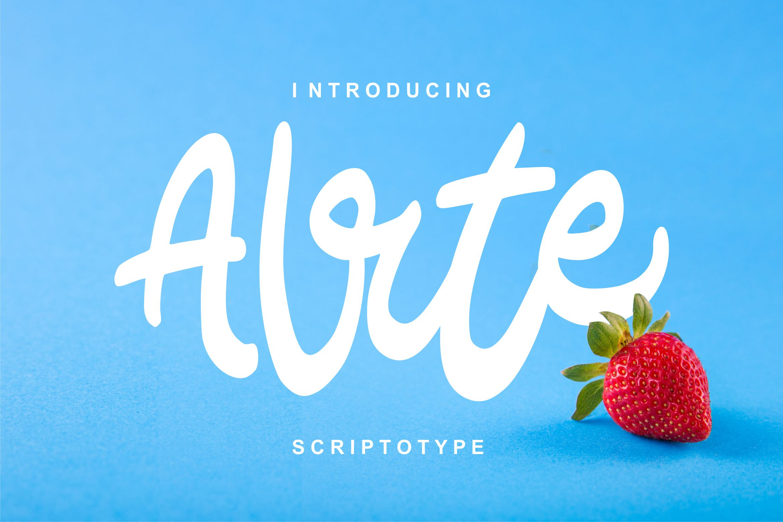 Alrte | Modern Scriptotype Font example image 1