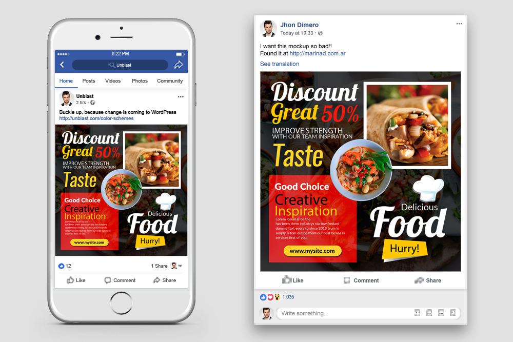 Food Restaurant Facebook Post Banner example image 2