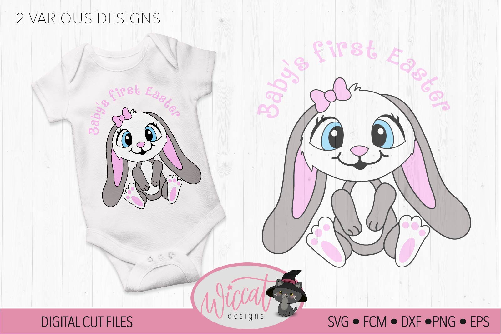 Baby's first Easter, baby bunny example image 2