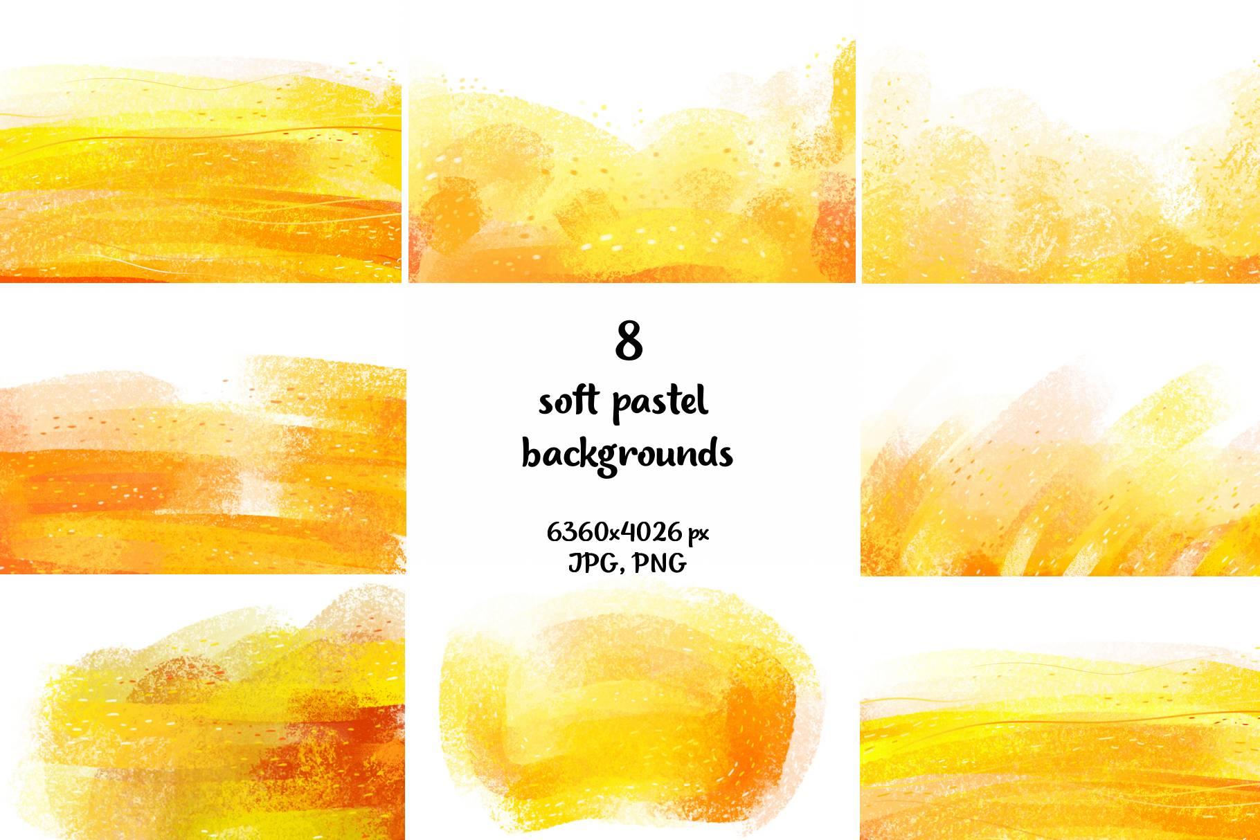 Warm Autumn sunny pastel backgrounds example image 2