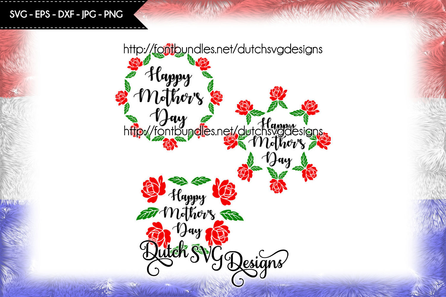 3 Cutting files Happy Mother's Day example image 1