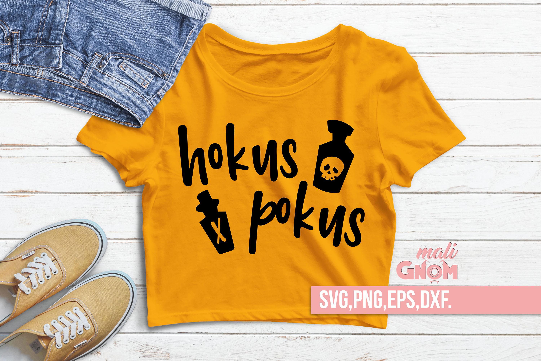 Hokus Pokus SVG, Halloween SVG file, Trick or Treat Bag SVG example image 2