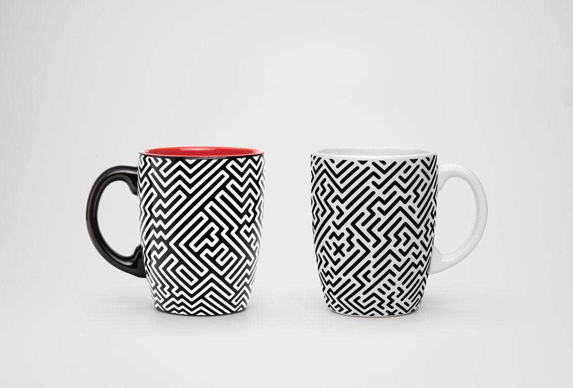 Seamless striped geometric patterns example image 3