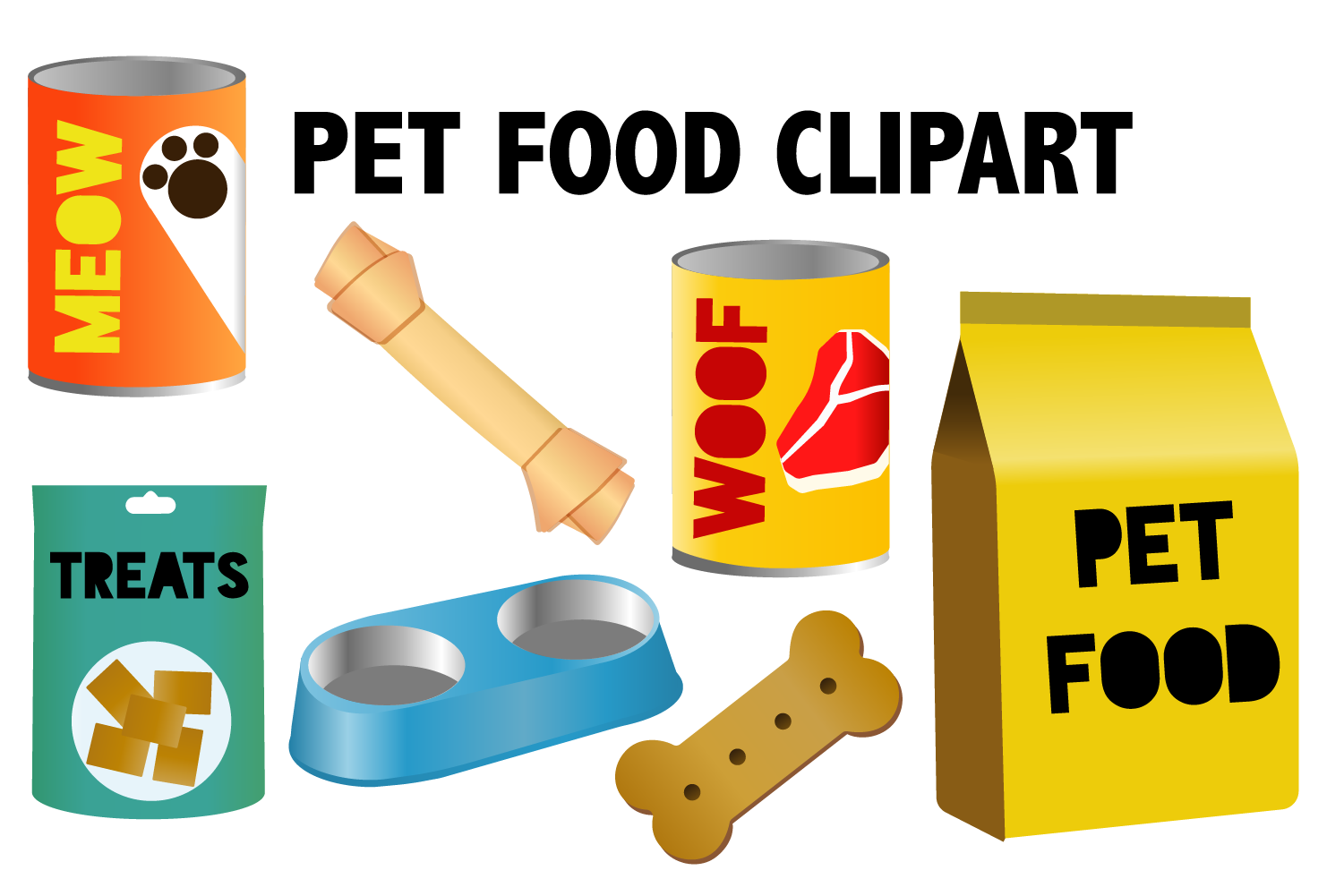 Pet Food Clipart example image 1
