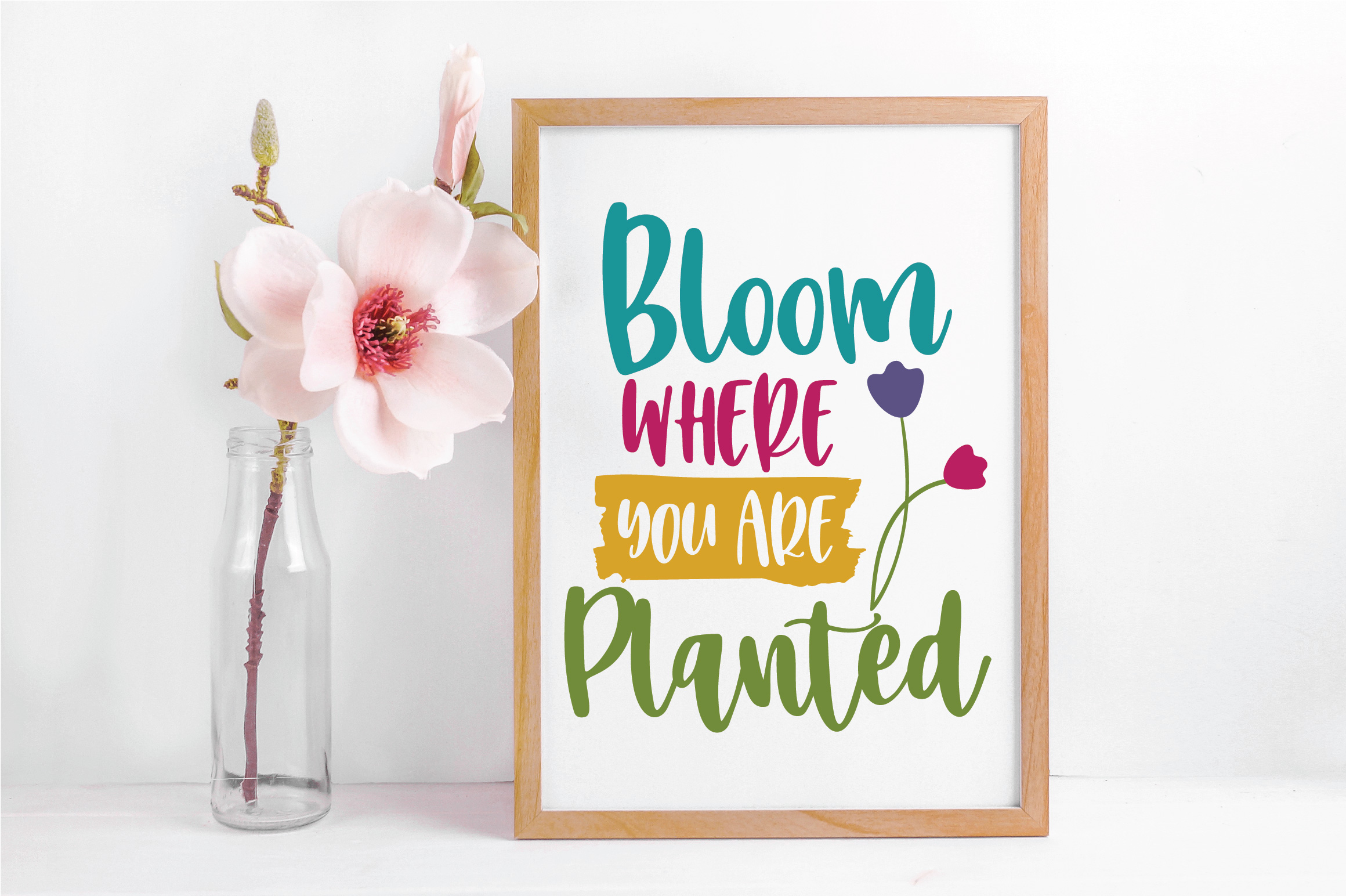 Bloom Where You Are Planted SVG Cut File - Spring SVG DXF example image 5