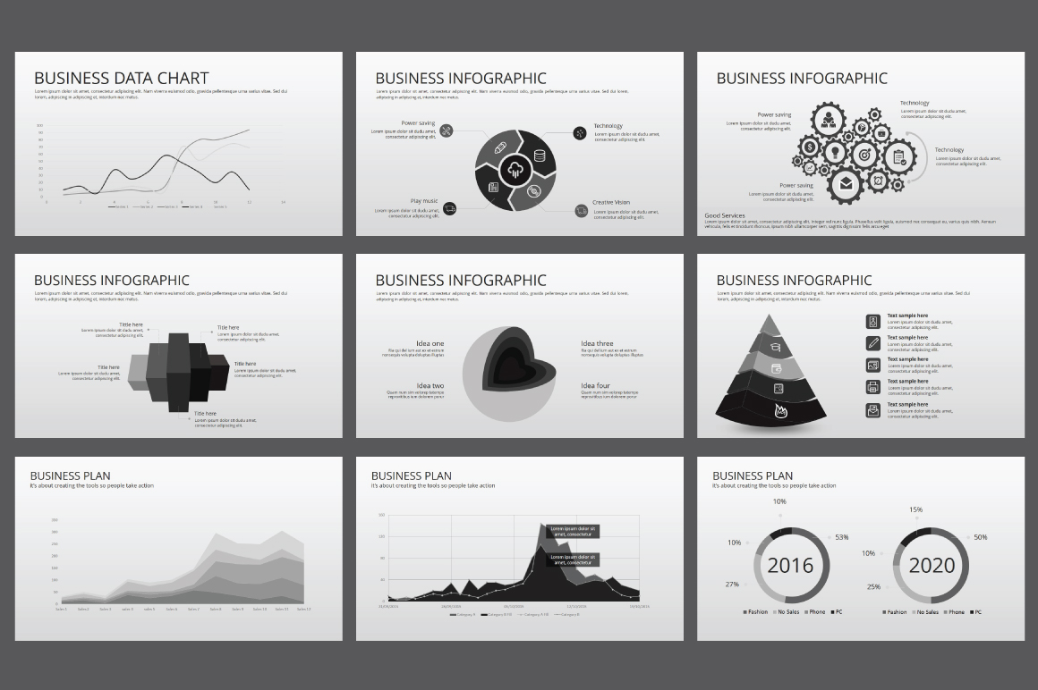 Hipster business Powerpoint Template example image 4