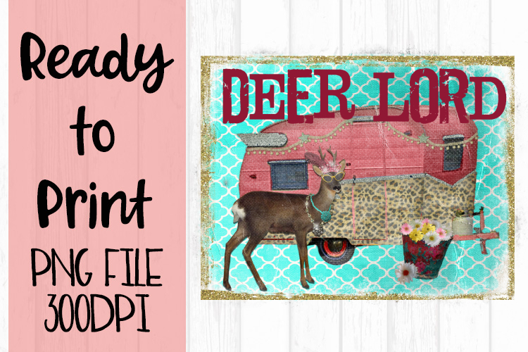 Deer Lord Camper Ready to Print example image 1