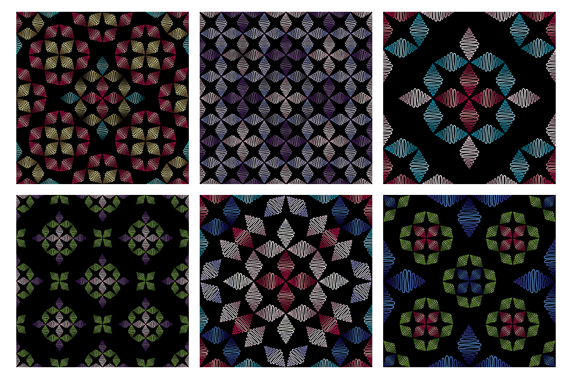 55 ornaments patterns collection example image 9