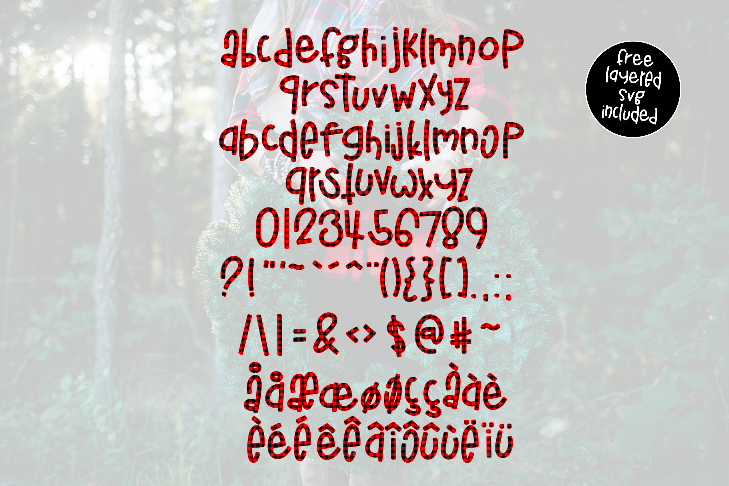 Buffalo Jane a Plaid Font example image 5