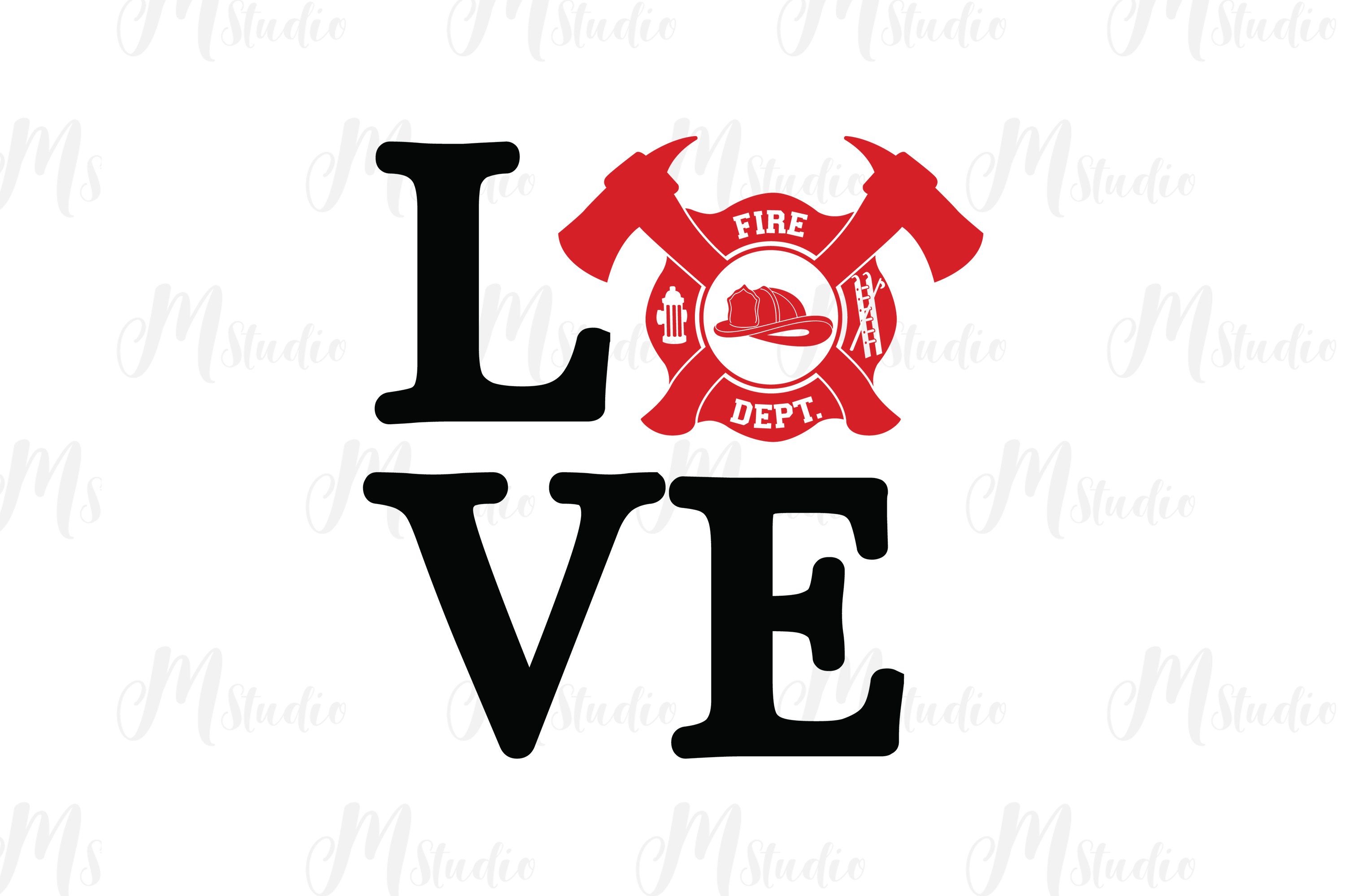 Firefighter SVG bundle example image 8