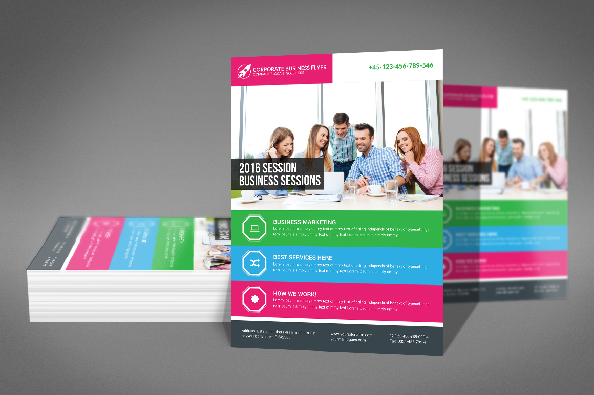 Global Business Agency Psd Flyer example image 2