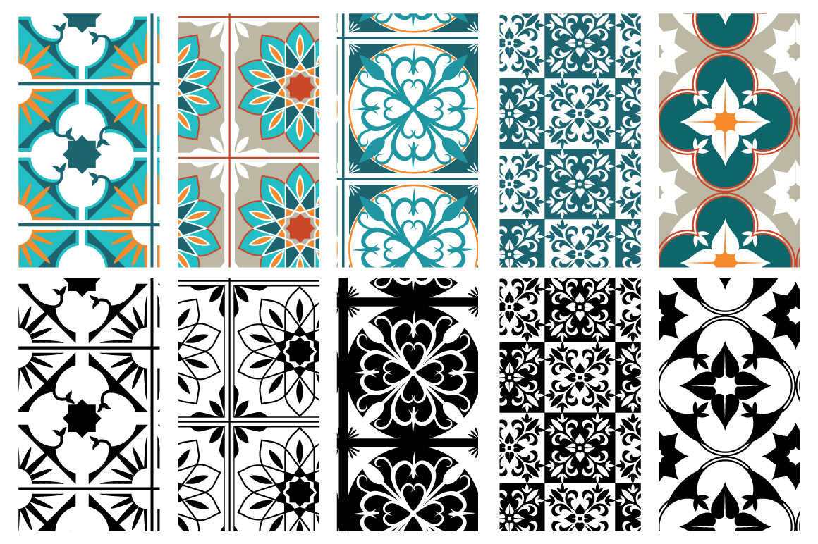 Moroccan style patterns example image 6