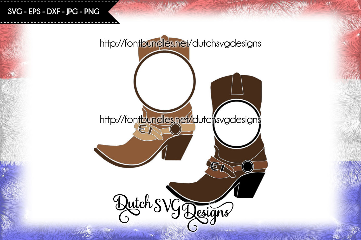 Monogram boots cutting files example image 3