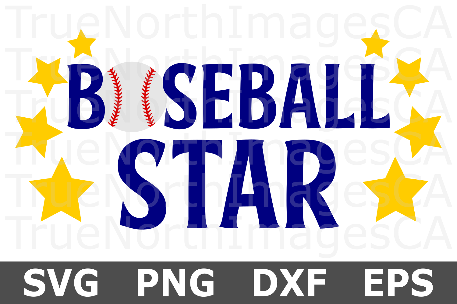 Baseball Star - A Sports SVG Cut File example image 1
