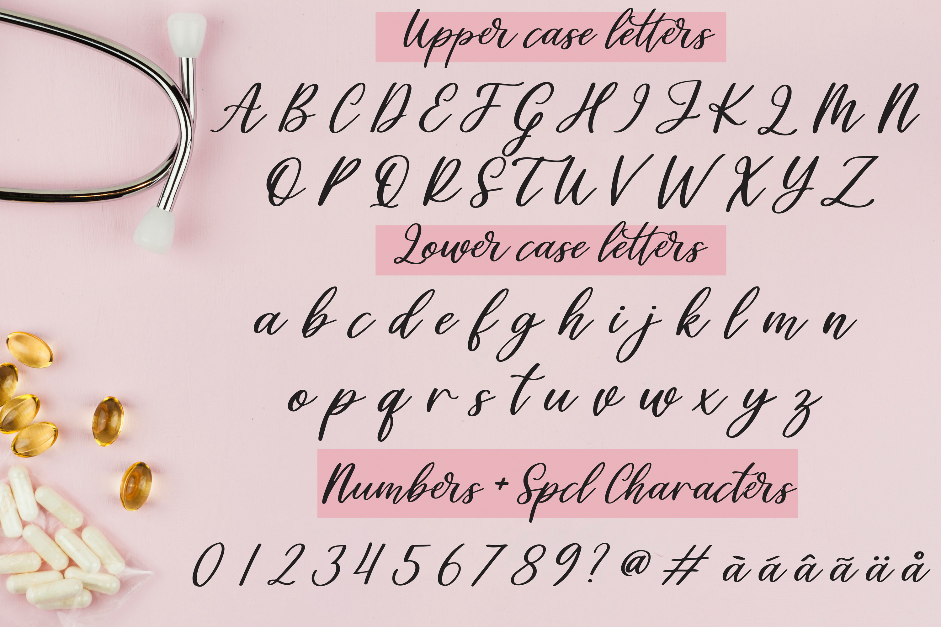Healers - A script font to celebrate our nurses and doctors example image 2