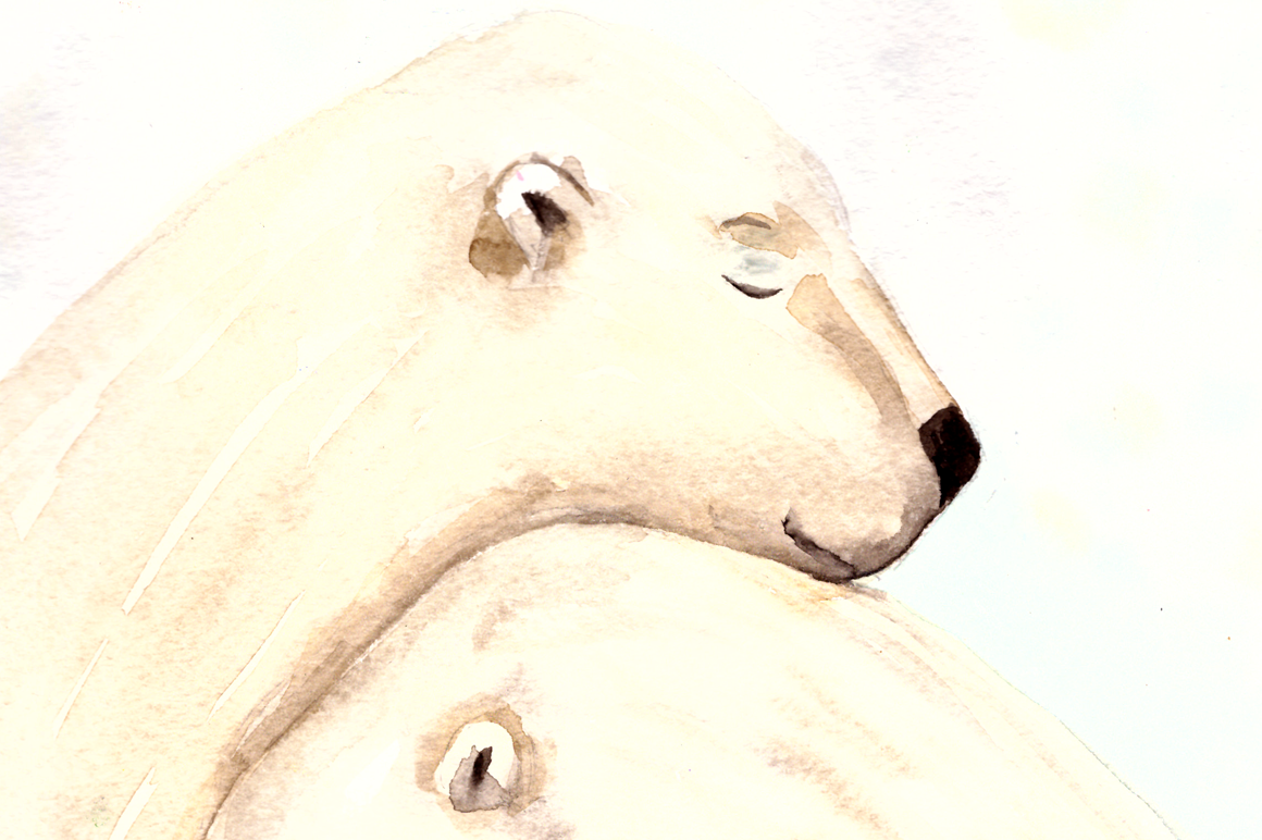 Love and Bears - Watercolor Illustration/Print example image 2