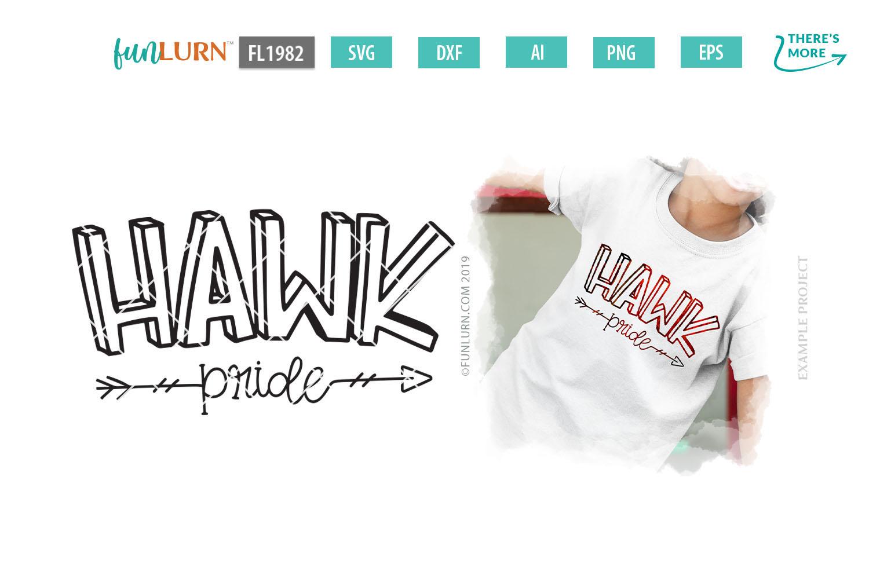 Hawk Pride Team SVG Cut File example image 1