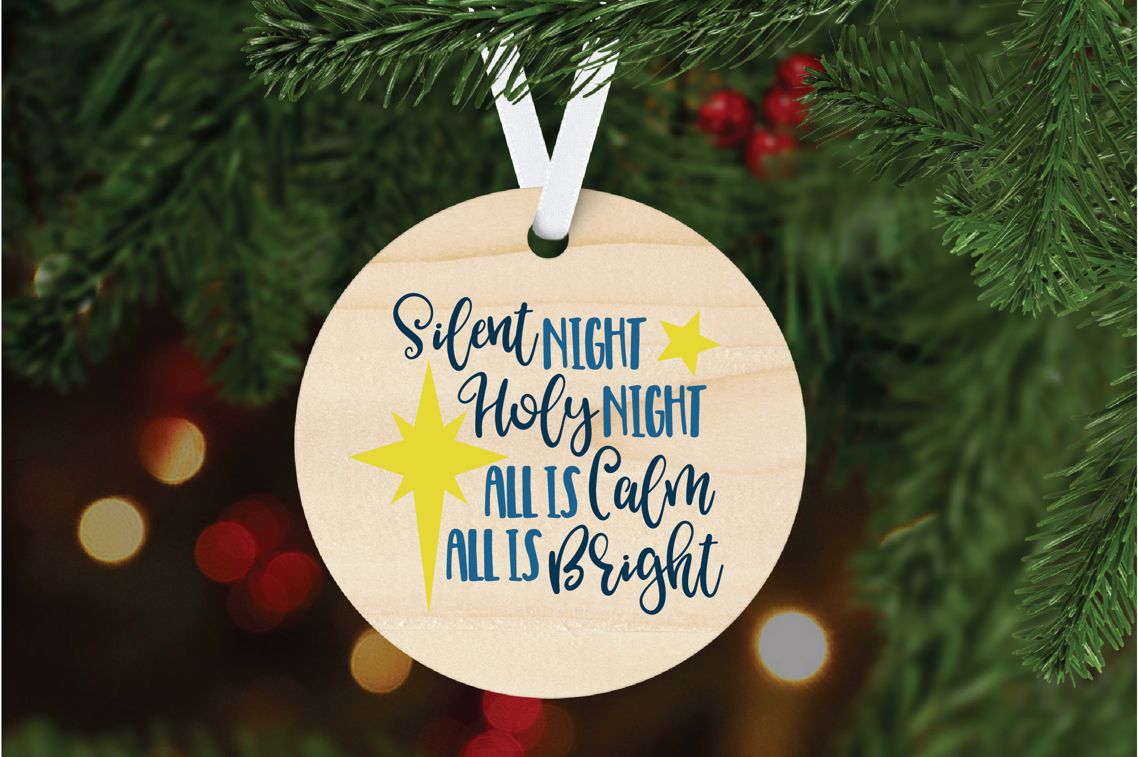 Silent Night SVG Cut File - Christmas SVG - DXF - PNG - EPS example image 6