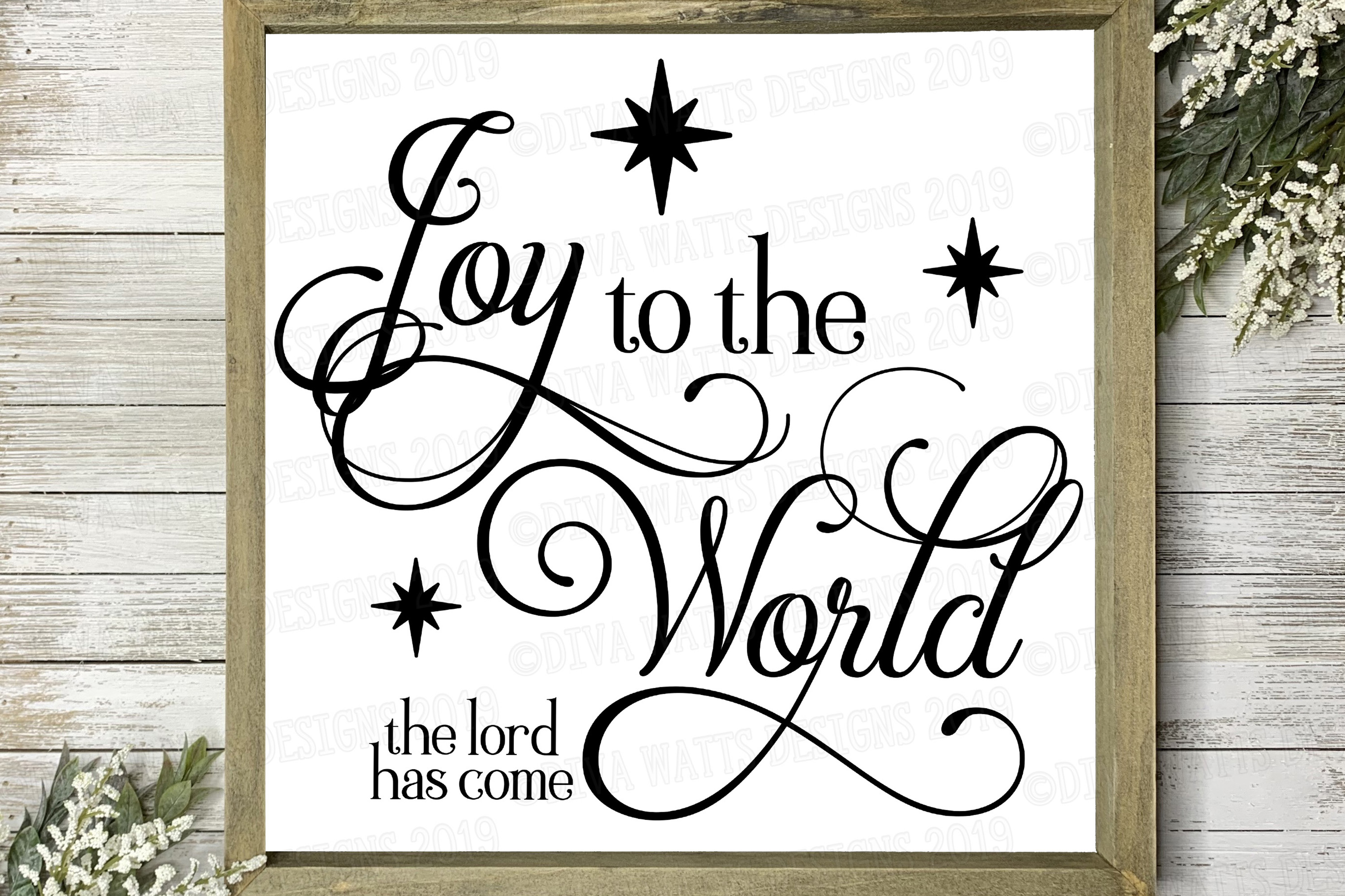Joy To The World The Lord Has Come Christmas Jesus Cut File example image 1