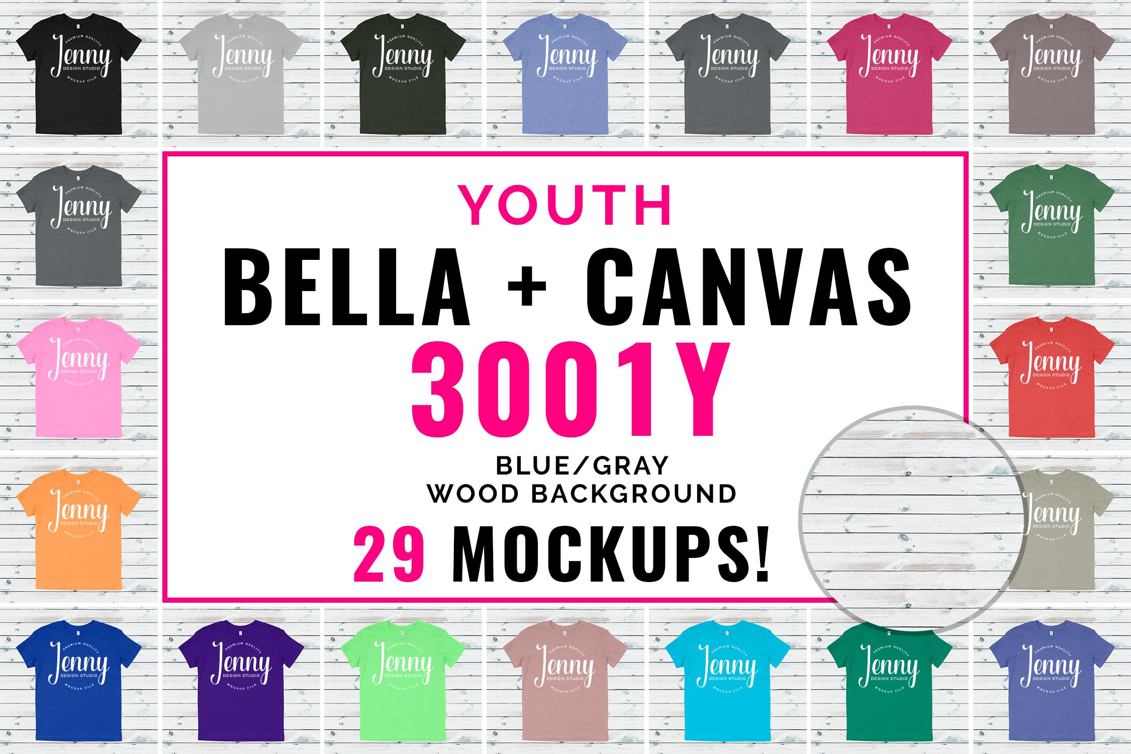 Bella Canvas 3001Y Youth Unisex Mockup Bundle example image 1