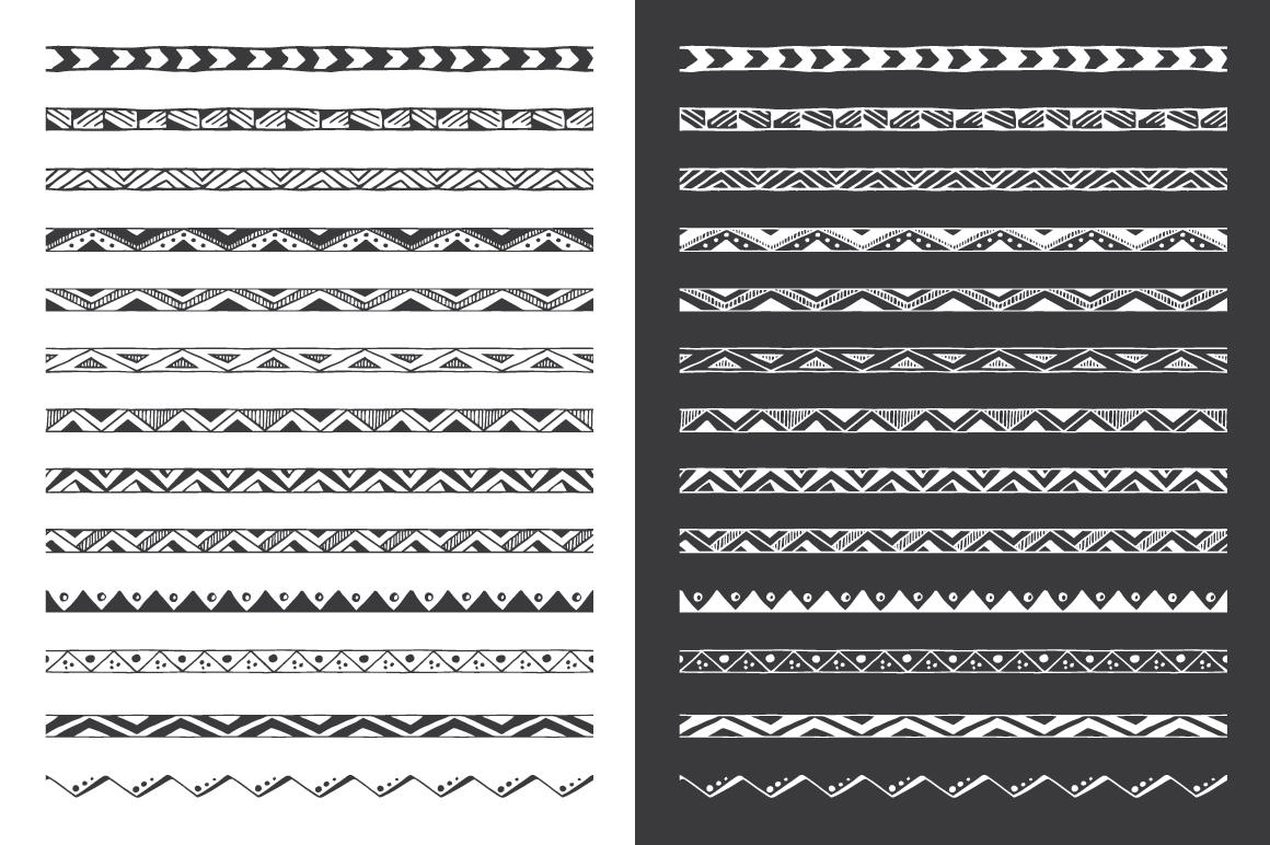 Hand Drawn Pattern Brushes Bundle - Volumes 01, 02 & 03 example image 2