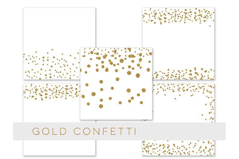 Confetti Clipart, Confetti Clip Art, Confetti Overlay, Black Gold Confetti Borders, Glitter Gold Confetti Graphics, Glitter Digital Confetti, commercial use example image 4