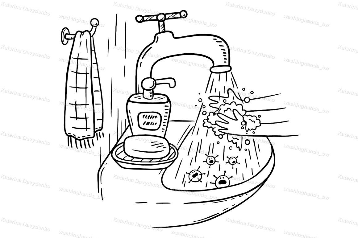 Handwashing with soap or hand hygiene example image 2