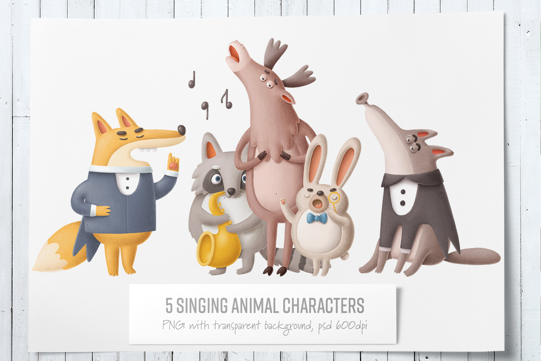 Collection of singing forest animals example image 2