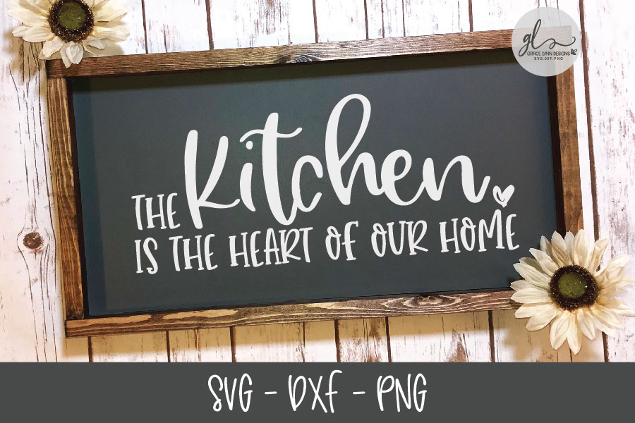 The Kitchen Is The Heart Of Our Home - SVG Cut File example image 2